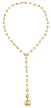 Marco Bicego Africa 18K Yellow Gold & Diamond Hand Engraved Lariat Necklace