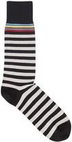 Paul Smith Black Striped Stretch Cotton Socks