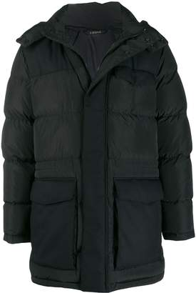 Ermenegildo Zegna mid-length hooded padded coat