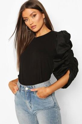 boohoo Cotton Puff Sleeve T-Shirt