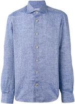 Kiton buttoned shirt - men - Linen/Flax - 41