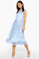 Thumbnail for your product : boohoo Boutique Lace Skater Bridesmaid Dress