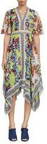 BCBGMAXAZRIA Roselle Woven Silk Knee-Length Dress