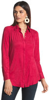 Chico's Smooth Faux-Suede Reza Shirt