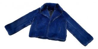 Intermix Blue Faux fur Jackets