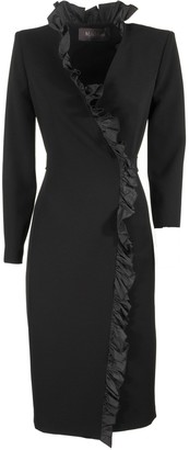 Max Mara Suez Long-sleeved Dress With Ruffles