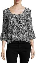 Tracy Reese Women's Silk Flounced Top