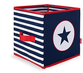 Penny Scallan Navy Star Toy Box, Storage Box Navy Star
