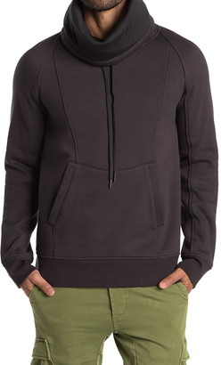 Helmut Lang Brushed French Terry Cowl Neck Hoodie