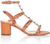 Valentino Women's Rockstud Leather Sandals-ORANGE