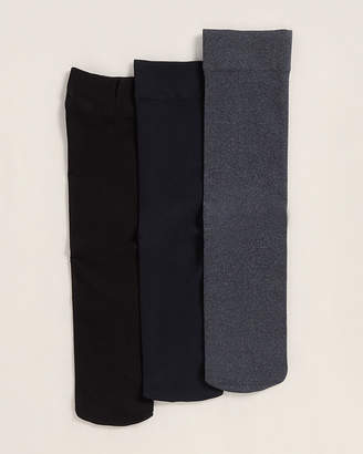 Me Moi Memoi 3-Pack Solid Trouser Socks