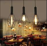 LINA-home LINA-Contemporary bedroom European-American restaurant retro Iron diamond-shaped single-head pendant