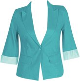 Nana Plus Size Linen Blazer -Size: Color: