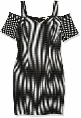 Lark & Ro Women's Short Sleeve Cold Shoulder Dress with Bardot Neck Line