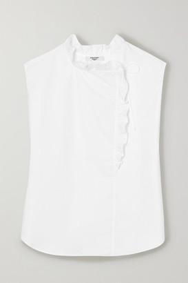 Atlantique Ascoli Ruffled Cotton-poplin Blouse - White
