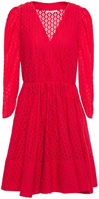 Maje Flared Lace Mini Dress