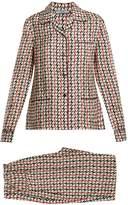 Prada Geometric-print silk pyjama set