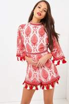 Girls On Film Coral Playsuit