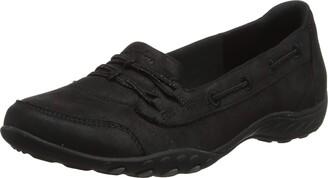Skechers Women's BREATHE-EASY - SOLE-FULL Slip On Trainers Beige (Black Micro Leather/Charcoal Trim TPE) 4 (37 EU)