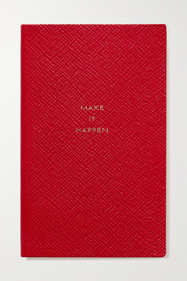Smythson Panama Make It Happen Textured-leather Notebook - one size