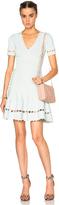 Alexander McQueen Flute Sleeve Mini Dress