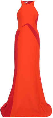 Antonio Berardi Two-tone Wool-blend Gown