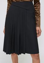 Lanvin Black Pleated Skirt