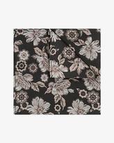 Le Château Floral Print Silk Pocket Square