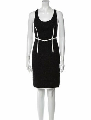 Boutique Moschino Virgin Wool Knee-Length Dress Wool