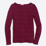 J.Crew Factory Long-sleeve striped boatneck shirt