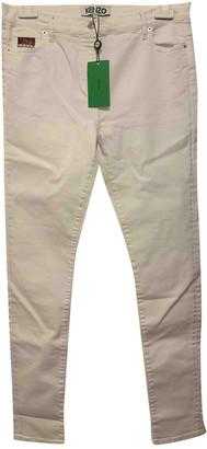 Kenzo White Cotton - elasthane Jeans