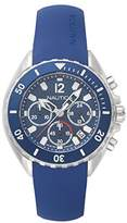 Nautica Men's 'NEWPORT' Quartz Stainless Steel and Silicone Casual Watch