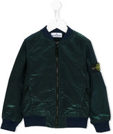 Stone Island Junior - shiny bomber jacket - kids - Nylon/Polyamide/Polyester - 6 yrs