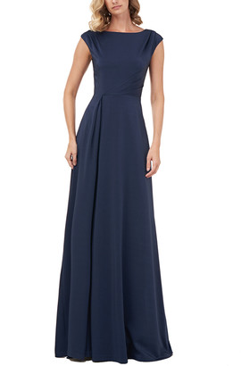 Kay Unger Whitney Stretch Faille Gown