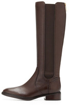 Tory Burch Christy Tumbled Leather Stretch Boot, Coconut