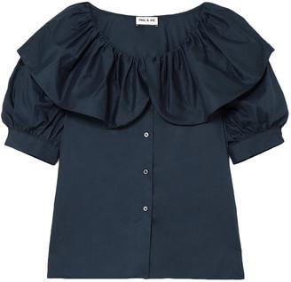 Paul & Joe Ruffled Layered Cotton Shirt