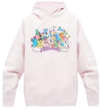 Vetements Unicorn Print Hooded Sweatshirt - Womens - Light Pink