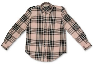 Style&Co. Style & Co Plus Size Plaid Button-Front Top, Created for Macy's