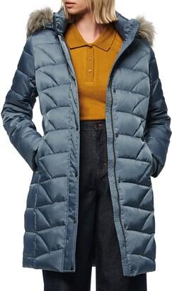 Andrew Marc Medina Faux Fur Trim Down Puffer Jacket