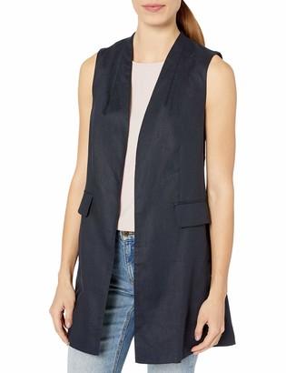Ellen Tracy Women's Elongated Linen Gilet Vest