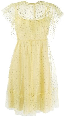 RED Valentino Point D'esprit Frilled Dress