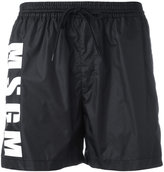 MSGM logo print running shorts