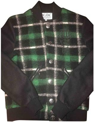 JC de CASTELBAJAC Green Wool Leather jackets