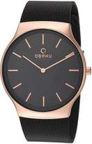 Obaku Men's Quartz Stainless Steel Dress Watch, Color: (Model: V178GXVBMB)