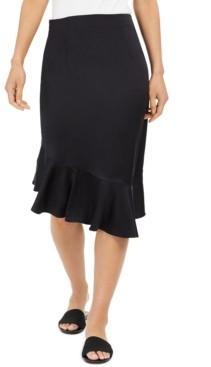 Thalia Sodi Asymmetrical Flounce-Hem Skirt, Created for Macys