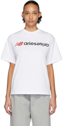 Aries White New Balance Edition Logo T-Shirt