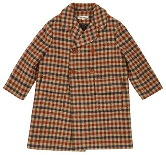 Caramel Eagle Check Tweed Coat (3-6 Years)
