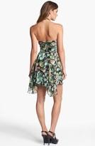 Jill Stuart Jill Floral Print Silk Halter Dress