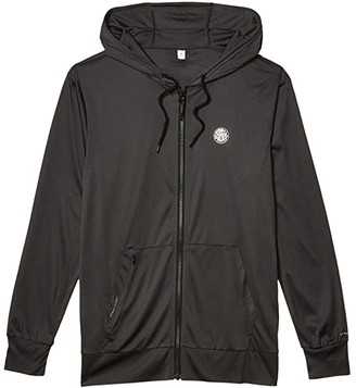 Rip Curl Search Surflite Hoodie (Black/Khaki) Men's Swimwear