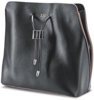 ThreeSixFive Black vegan leather slouchy bag